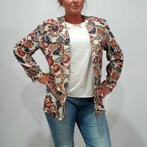 Vintage 90s hippy boho pattern blazer